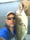 Lake Anna 6+  lbs Bass Yamamoto worm worked slow on  drops and grass bed edges water 63 degrees windy near faster current